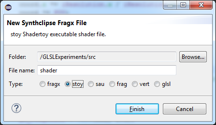 New File Wizard